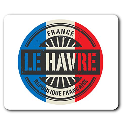 Comfortable Mouse Mat - Française Le Havre France French 23.5 x 19.6 cm (9.3 x 7.7 inches) for Computer & Laptop, Office, Gift, Non-Slip Base - RM7384