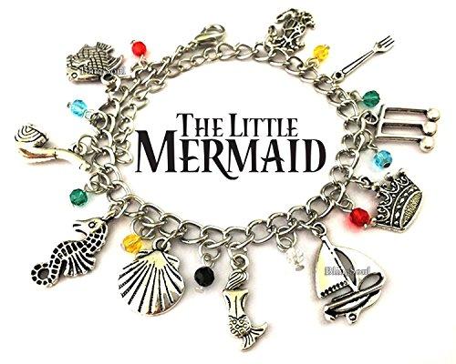 Premium Quality Movie Jewelry Collection (Little Mermaid Charm Bracelet)