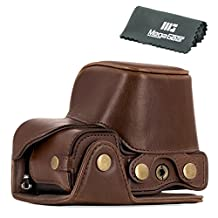 """MegaGear """"Ever Ready"""" Leather Camera Case - Easy to Install, Tripod and Peripheral Friendly Accessory - Compatible with Sony Alpha A6300, A6000 - 16-50mm Lens"""