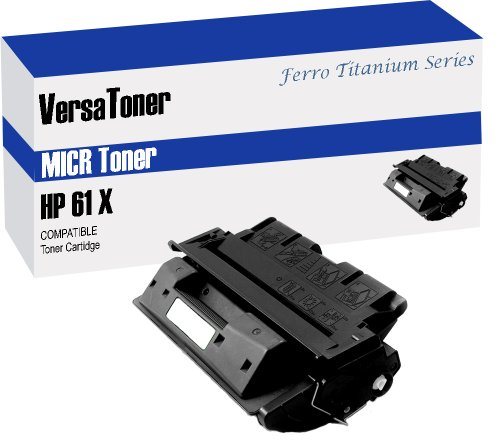 VersaToner - 61X C8061X MICR Toner Cartridge for Check Printing - Compatible with LaserJet 4100, 4101