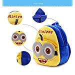 Blue Tree Velvet Kids School/Nursery/Picnic/Carry/Travelling Bag – 2 to 5 Age (Yellow_Blue School Bag)