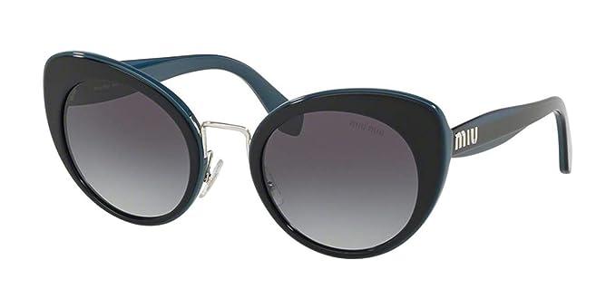 e2b4c70e3129 Image Unavailable. Image not available for. Color: Sunglasses Miu MU 6 TS  TMY5D1 BLUE/TOP OPAL BLUE