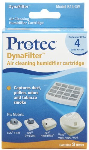 Protec DynaFilter Air Cleaning Humidifier Cartridges Replacement Filter 4 Model K14-3W 3 EA - Buy Packs and SAVE (Pack of - Dynafilter Air