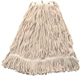Wilen A551332, Leader/US Cotton No Marr Pinnacle Fan Mop, 32-Ounce, Natural (Case of 12)