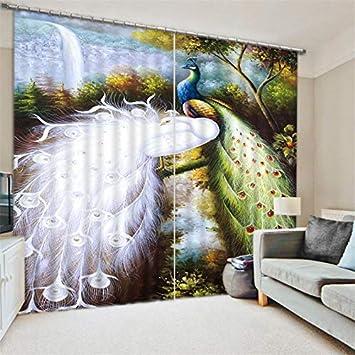 Wapel Schone Pfau Luxus Blackout 3d Vorhange Fur Kinder Wohnzimmer