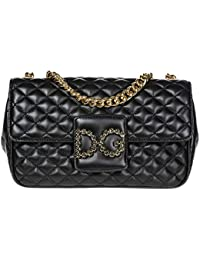 Dolce&Gabbana women's leather shoulder bag original dg millennials black