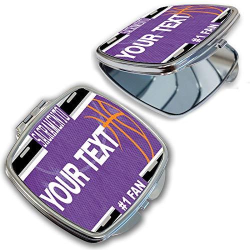 BRGiftShop Customize Your Own Basketball Team Sacramento Compact Pocket Cosmetic -
