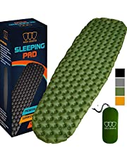 Gold Armour Camping Sleeping Pad - (Extra Large) Mat, Ultralight 14.5 oz, Best Sleeping Pads for Backpacking, Hiking Air Mattress - Lightweight, Inflatable & Compact, Camp Sleep Pad