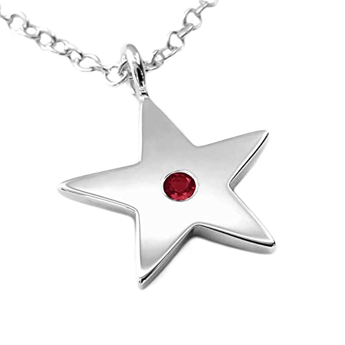 925 Sterling Silver Brushed Stars Round Charm Pendant