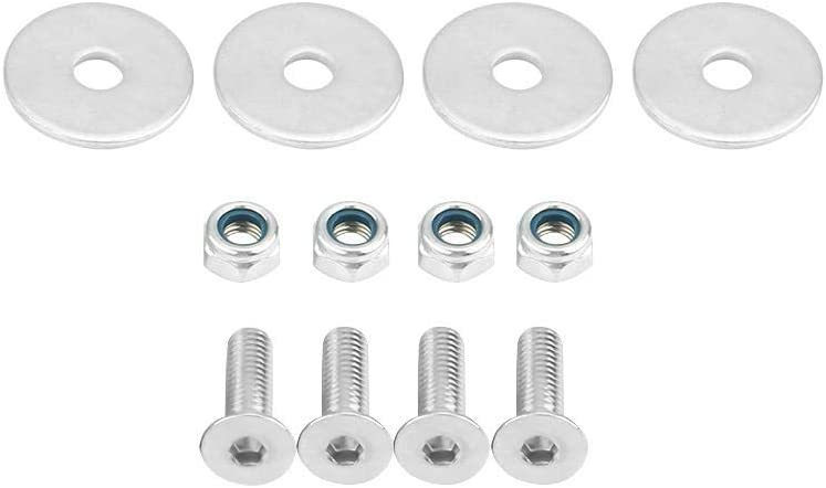 Universal Front Rear Trunk Hatch Lids Bumpers Quick Release Washers Bolts Kit Suuonee Quick Release Fasteners black