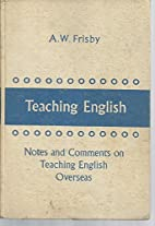 Teaching English: Notes and Comments on…