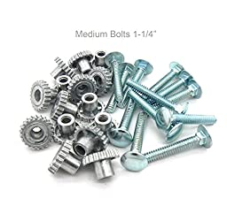 Pet Carrier Metal Fasteners Nuts Bolts (1-1/4\