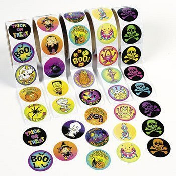 Amazon.com: 500 HALLOWEEN Stickers/5 Rolls of 100/HALLOWEEN PARTY ...