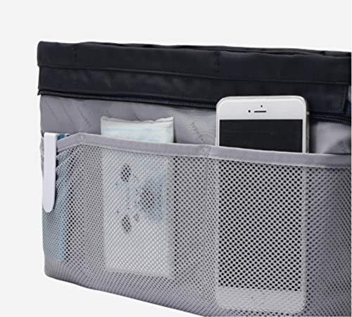 Insert Bag Organizer, Bag in Bag for Handbag Purse Organizer (Medium, Black) by favour (Image #5)
