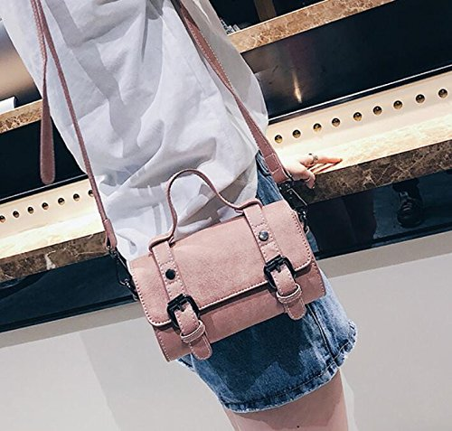 Sac Main Cuir Meaeo Rose D'Épaule Sac Pink En Pu Loisirs Nouvelle Seul Mode Sac Sac À Rétro Bandouliere BBn04UH