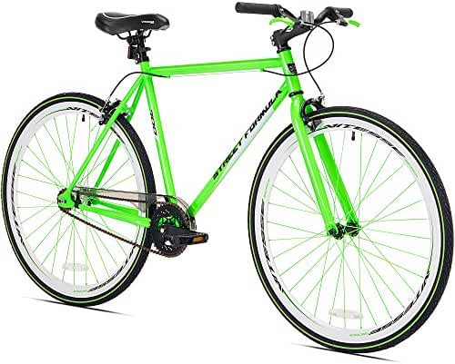 80cc Gas Powered Motorized 700c Kent Street Formula (Green) Fixie Bike