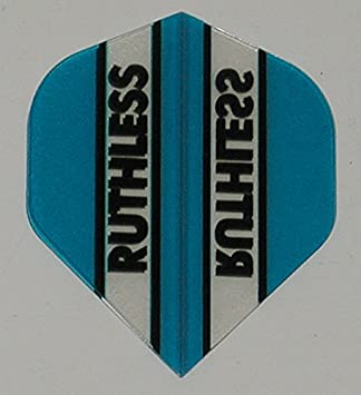 Ruthless Fantail Blue Flights US Darts 1 Set 3 Flights Xtra Tough 100 Micron