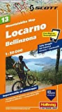 MTB-Karte 13 Locarno, Bellinzona 1:50.000: Mountainbike Map (Hallwag Mountainbike-Karten)
