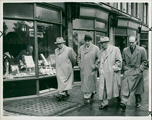 Vintage photo of P.F Zhigarev:Russian Airlines executives on sightseeing