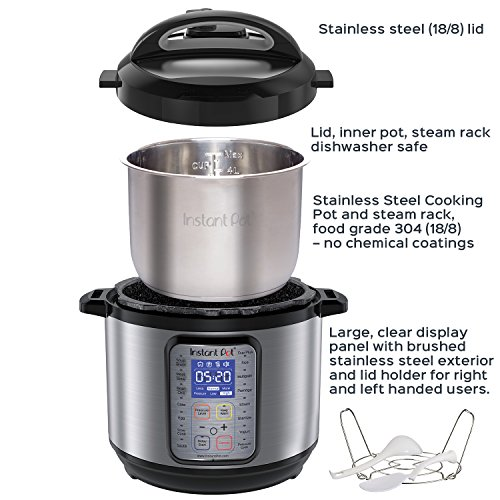 Large Product Image of Instant Pot DUO Plus 60, 6 Qt  9-in-1 Multi- Use Programmable Pressure Cooker, Slow Cooker, Rice Cooker, Yogurt Maker, Egg Cooker, Sauté, Steamer, Warmer, and Sterilizer