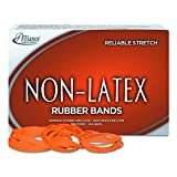 Alliance Rubber 37176#117B Non-Latex Rubber Bands, 1 lb box contains approx. 250 bands (7'' x 1/8'', Orange)