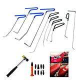 WHDZ Paintless Dent Repair Rods Auto Body Dent Removal Tools 10pcs Auto Car Body Paintless Dent Repair Dent Puller Dent Hammer Tap Down