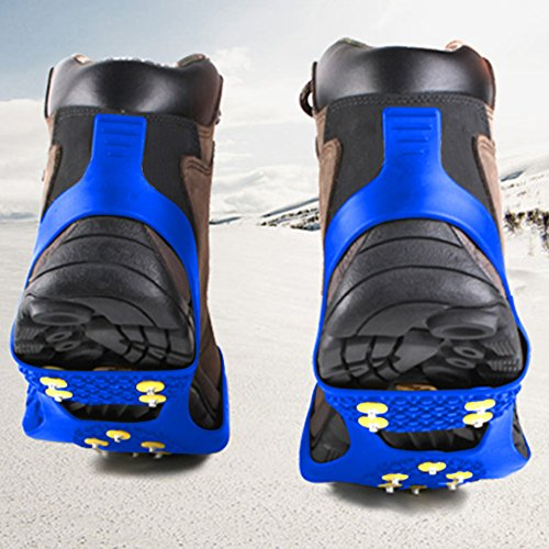 Traction Cleats for Ice and Snow Quickly and Easily Grips Over Footwear (Sizes: S/M/L/XL)