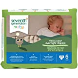 Seventh Generation Baby Free & Clear Overnight Diapers, Stage 6, 17 Count (Pack of 4)