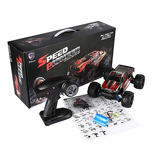 SainSmart Jr. RC Truck High Speed 35 MPH RC Offroad Cars Remote Control Car RC Vehicles RTR 1/18 Full Scale 2.4Ghz (Red)