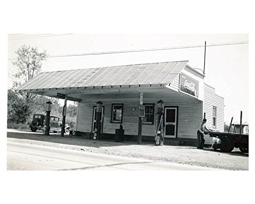 1941 Pure Oil Gas Station Photo Poster Clemmons NC Gas Pump Coca Cola from AutoLit