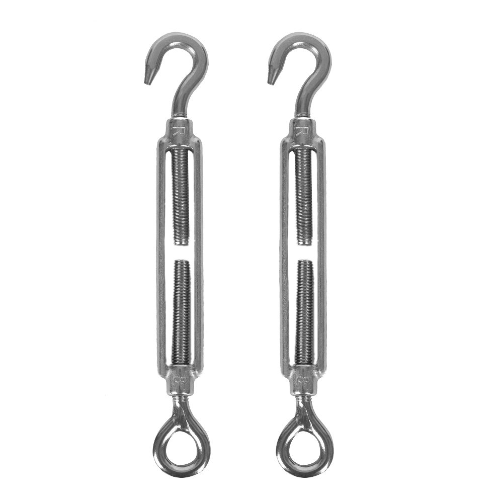 Accessbuy Stainless Steel Turnbuckle Hook& Eye Wire Rope Tensioner (M8-2pack) by Accessbuy