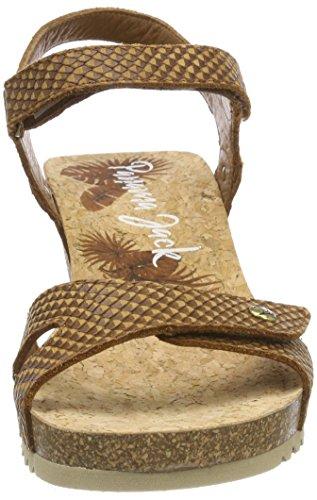 Aperta Snake Panama Sandali Jack Marrone cuero Punta Donna Julia wqX1BXnf