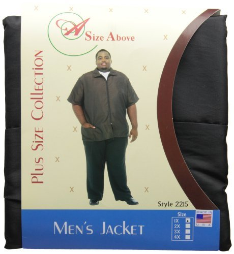 (A Size Above Men's Barber Jacket, 1X, Black by A Size Above)