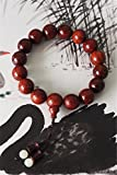 Generic India lobular red sandalwood bracelets Venus high oil tight mahogany prayer beads bracelet Plaza Masao girls temperament stylish