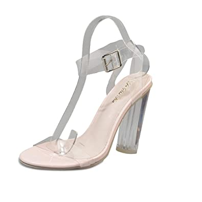 d90750a5f Amazon.com | Ms lily Womens Heels Peep Toe Pumps High Heeled Sandals |  Sandals