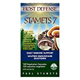 Host Defense Mushrooms   Stamets 7 Multi Capsules   Immune and Digestion Support   Lion's Mane, Reishi, and Cordyceps   Certified Organic (120 Caps)