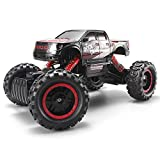 Blexy RC Car Rock Crawler 2.4Ghz 4WD Remote Control Vehicle High Speed 1:14 Off-Road Monster Truck Electric Racing Buggy with LED Headlights (Red)
