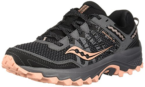 Saucony Women's Excursion TR12 Sneaker, Grey/Peach, 9 M -