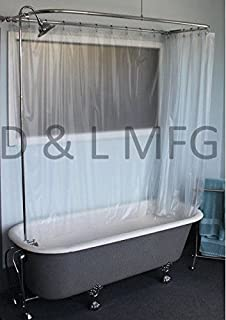 Brass Clawfoot Tub Shower Kit. Claw Foot Add A Shower with 60  D Rod and Faucet Ceramic Cartridges Kingston Brass CCK1181AX Vintage Clawfoot Tub Package Metal Cross