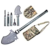 Kyпить Rose Kuli Compact Military Folding Shovel, Portable Multitool, Tactical Entrenching Tool for Camping, Backpacking, Outdoor Hiking, Car, Garden, Snow, Heavy Duty Emergency Survival Gear на Amazon.com