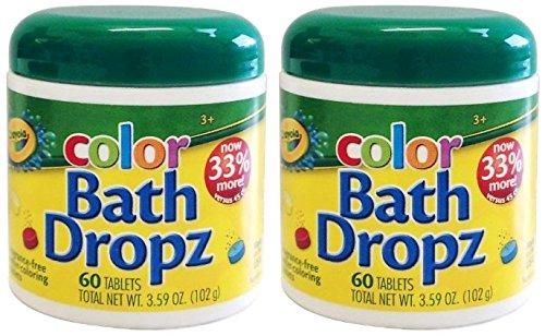 Crayola Bath Dropz 3.59 oz 60 Tablets (Pack of 2)