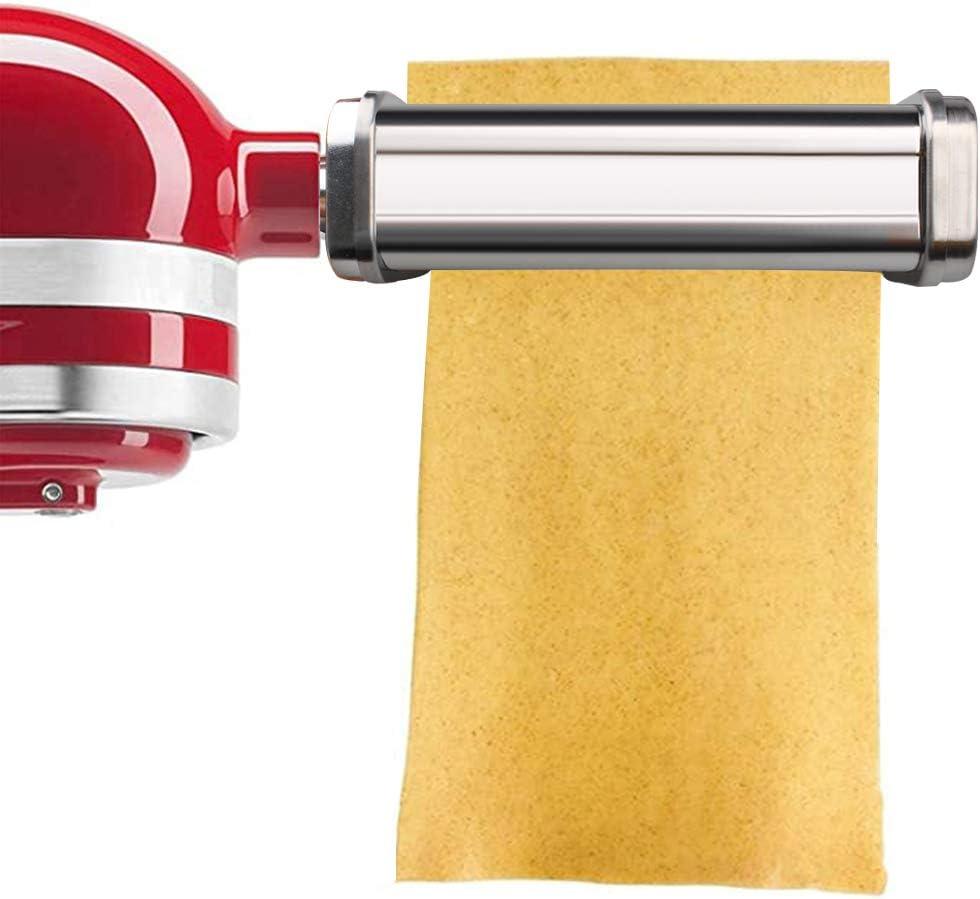 aikeec Rodillo para hojas de pasta - para rodillo de pasta KitchenAid, accesorios para pasta y batidoras