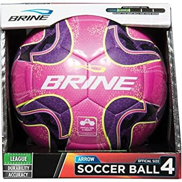 Salmuera flecha balón de fútbol, talla 3, color rosa: Amazon.es ...