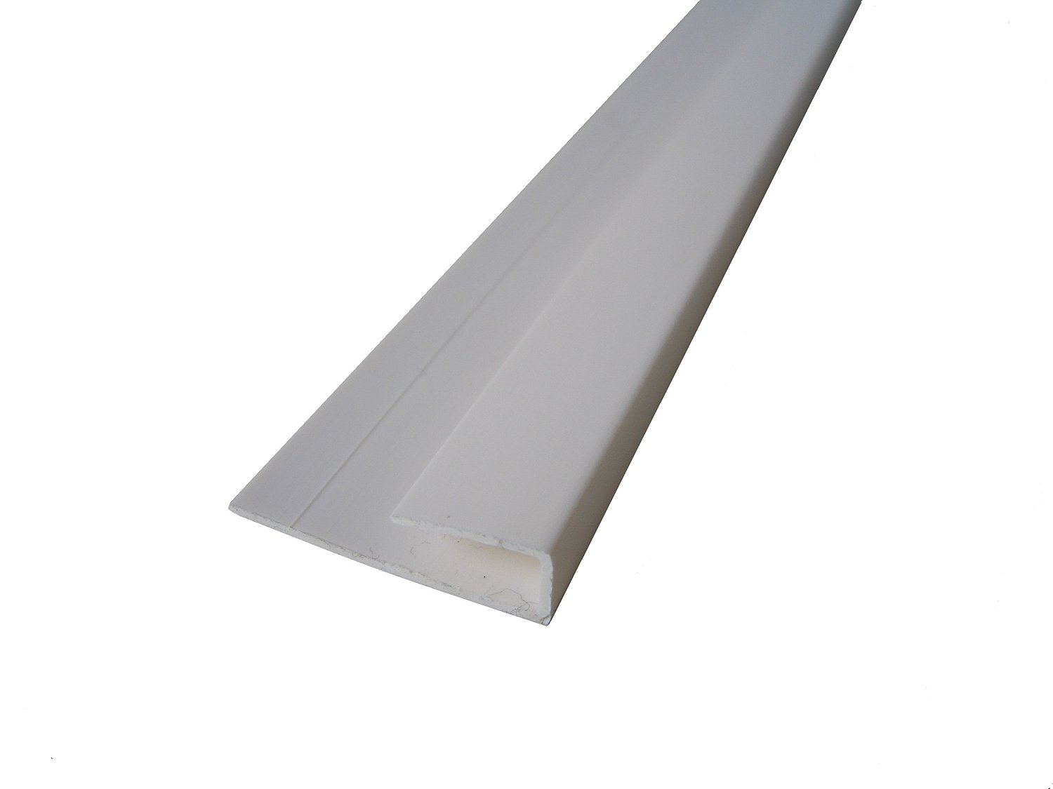 White Panel Trim Perfect for Bathroom Kitchen Shower Wall PVC Cladding Panels-8mm End Cap Edging Trim-100% Waterproof-Use with Claddtech Adhesive