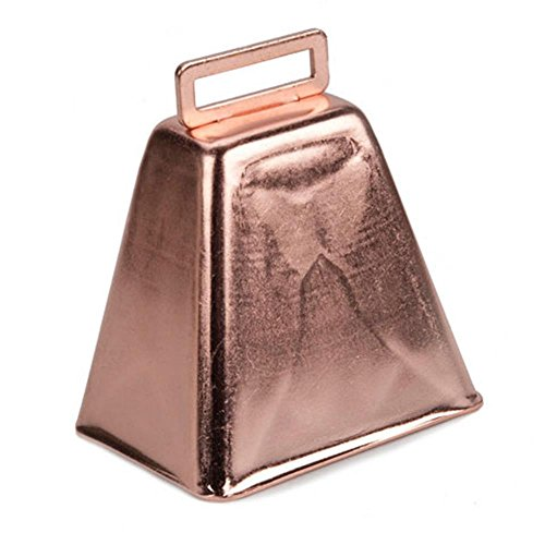 Darice 3 Inch Copper Cowbell,Gold,1 pack -