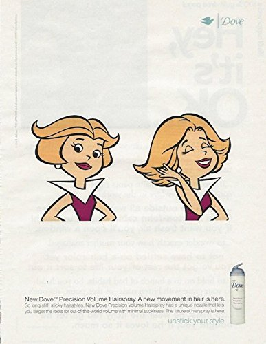 **PRINT AD** With Jane Jetson For 2005 Dove Hairspray Illustrated **PRINT AD** (Hairspray Memorabilia)