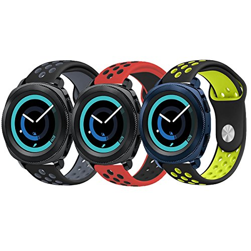 (Galaxy Watch 42mm Bands, Galaxy Watch Active Bands, KADES 20mm Replacement Strap with Quick Release Pin Compatible for Gear Sport/Garmin VivoActive 3/ Ticwatch 2/ Ticwatch E/Amazfit Bip Smart Watch)