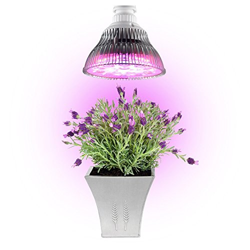 Minger 12W LED Grow Light, Plant Grow Light, Hydroponic Plant Lamp for Garden, Greenhouse, Indoor Hydroponic Flower & Vegetable Flower Growing
