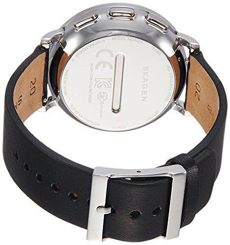 Skagen-Mens-42mm-Hagen-Connected-Black-Leather-Hybrid-Smartwatch