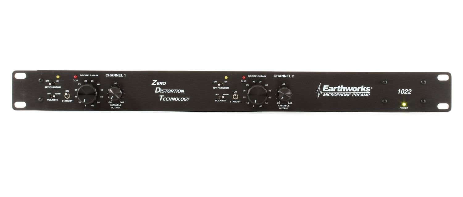 Earthworks 1022 | Zero Definition Technology 2-Channel Preamp (1 Rack Space)